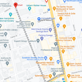 street march route